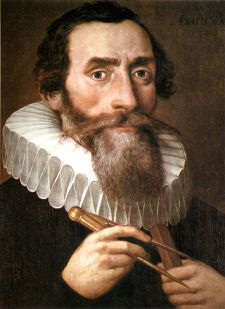You've got to love that frilly collar.  Just like Shakespeare!  Actually, come to think of it, Kepler actually lived at the exact same time as Shakespeare.  I wonder if they ever met and what they might say to each other at a dinner party.  Image is public domain.