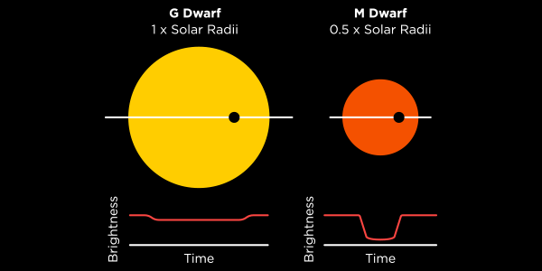 Stars, just like planets and people, come in all different shapes and sizes.  That means light curves also vary widely.   Image from Planethunters.org