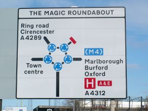 That's right.  A giant roundabout.  Image in the public domain