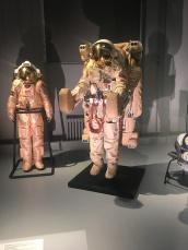 Orlan EVA suit in Cosmonauts exhibition